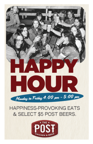 HAPPY HOUR at The Post Chicken And Beer - Lafayette