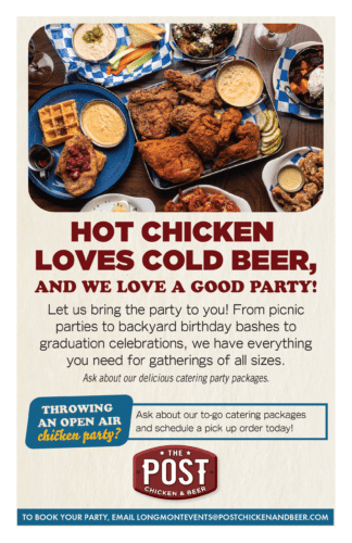 WE LOVE A GOOD PARTY! at The Post Chicken And Beer- Longmont